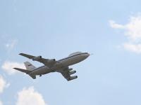 В небе воздушный командный пункт Ил-80