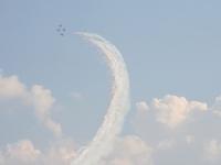 Фейерверк пилотажной группы Су-27