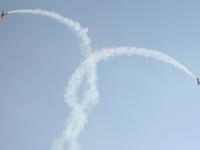 Выступление на спортивно-тренировочных самолетах ЯК-52 и ЯК-54
