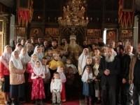 Групповое фото прихожан, гостей праздника в Тураевском храме