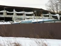 Сгоревший склад у деревни Андреевское