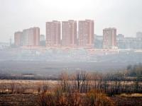 Новый жилой комплекс на том берегу Москва-реки