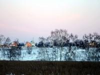 Вид на церковь в Зеленой Слободе
