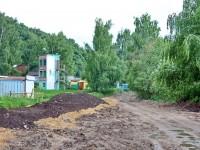 Дорожные работы у горнолыжного центра Боровской Курган