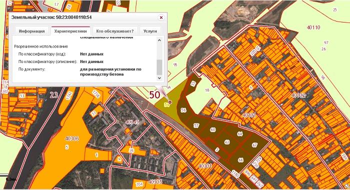Бетонный завод на карте росреестра