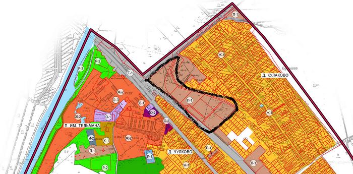 Бетонный завод на карте правил землепользования и застройки