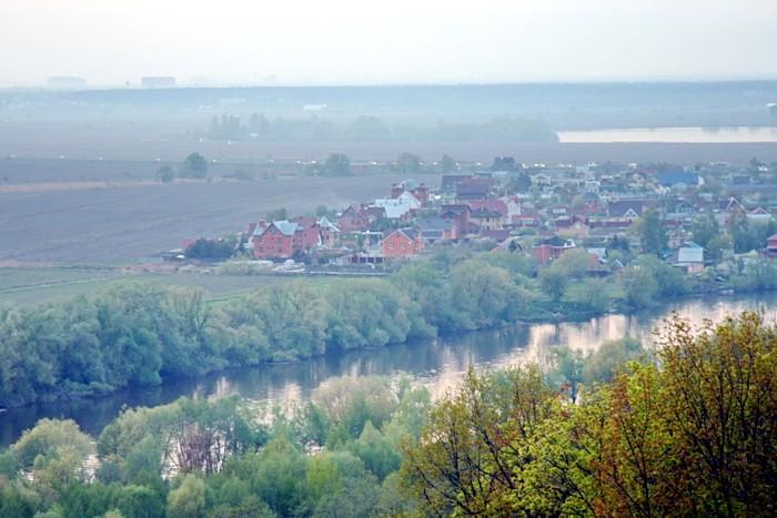 Вид на Новорязанское шоссе и деревню Заозерье