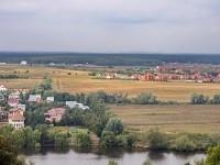 Вид с Боровского Кургана на окрестные деревни