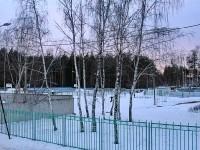 Внутренний двор школы со спортивными площадками