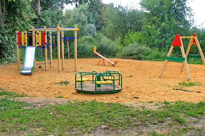 Новая детская площадка в Еганово
