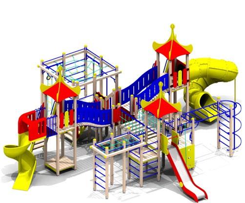 Детский игровой комплекс Нг=1,5 (нерж.) Нг=2,0 5451