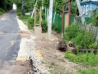 Съезды к домам с отсыпанной дороги в овраге не предусмотрены