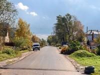 Свежезаасфальтированная дорога в Кулаково