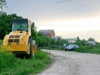Дорожная техника для укладки дороги - июнь 2013