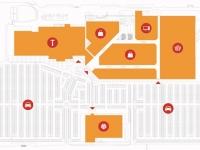 Схема размещения магазинов в Торговом парке N1