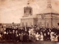 Покровский храм в Еганово с прихожанами до революции