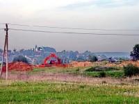 Добыча песка за бывшей молочно-товарной фермой у Нижнего Мячково