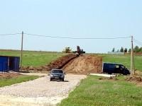 Подготовка основания дороги. Май 2012