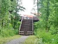 Лестница с берега в КП Григорчиково