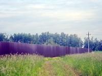 Забор поставлен поперек ЛЭП - июнь 2013