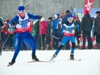 Борьба на лыжной трассе