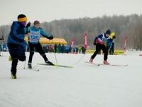 Финишное подбадривание лыжников