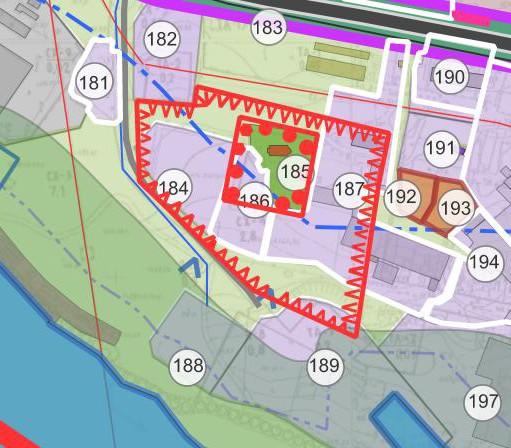 Фрагмент генерального плана города Лыткарино