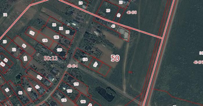 Схема расположения земельного участка в Щеголево