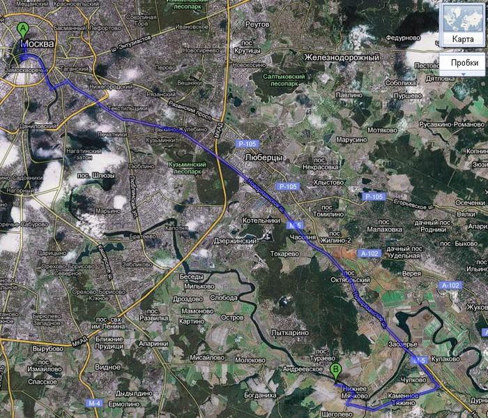 Проезд в Титово по Новорязанке
