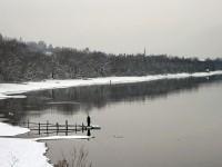 Москва-река берег вдоль Каменного Тяжино