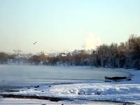 Пар над рекой Москвой