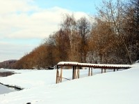 Берег Москва-реки в деревне Каменное Тяжино