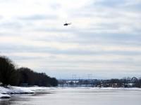 Вертолет над слиянием Москва-реки и Пахры