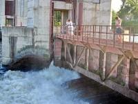 Андреевский шлюз гидроузла возле Тураево и Андреевское