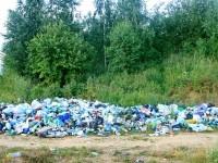 Свалка мусора за селом Еганово на берегу карьера - июль 2013