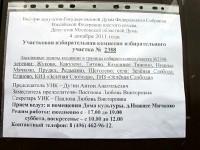 Объявление о выборах в депутатов думы 4 декабря 2011 на ДК Нижнее Мячково