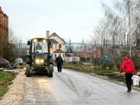 Реконструкция дороги в Нижнем Мячково - ноябрь 2011