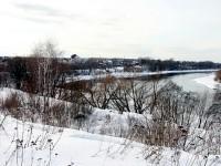 Вид на Нижнее Мячково от Каменного Тяжино