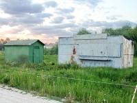 Привезли вагончики на участке на границе Титово и Нижнего Мячково - май 2012