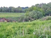 Границы участка на окраине Нижнего Мячково и Титово пересекают русло ручья Подцепня