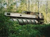 Шнекороторный снегоболотоход ЗИЛ-4904 на испытательной базе  Чулково  (2003 год, из архива Яна Якушкина)