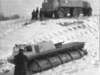 Совместные испытания шнекохода ШН-67 и  снегохода ЗИЛ-Э167