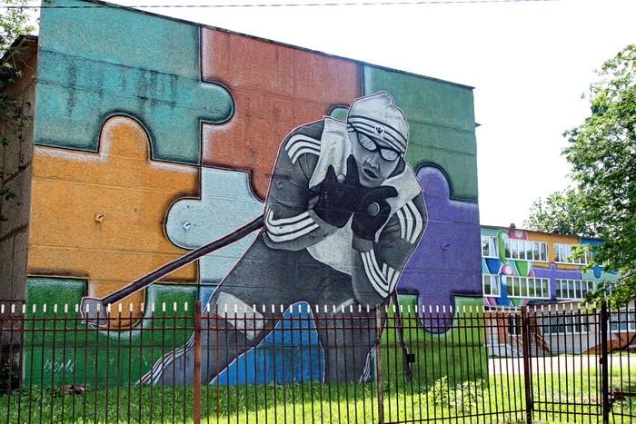 Раскраска здания чулковской школы N20