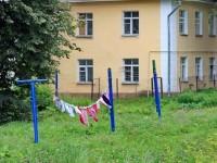 Сушка белья в поселке Володарского