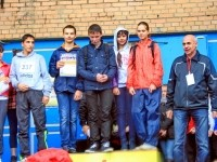 Награждение победителей в школьной эстафете