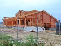 В Редькино строят дом из клееного бруса