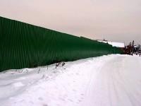 За длинным забором - устье ручья