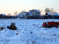 Земляные работы в поле у Щеголево