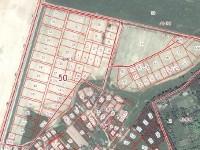 Размещение участков, выставленных на торги в деревне Редькино на кадастровой карте (50:23:0040405, ул. Крылатая, ул. Удачная).