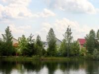 Берег большого пруда -карьера в СНТ Кварц